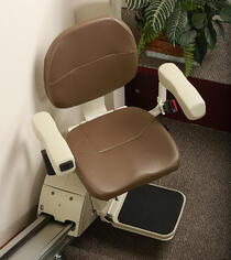 Aviator Pilot Stair Lift at the bottom of a staircase