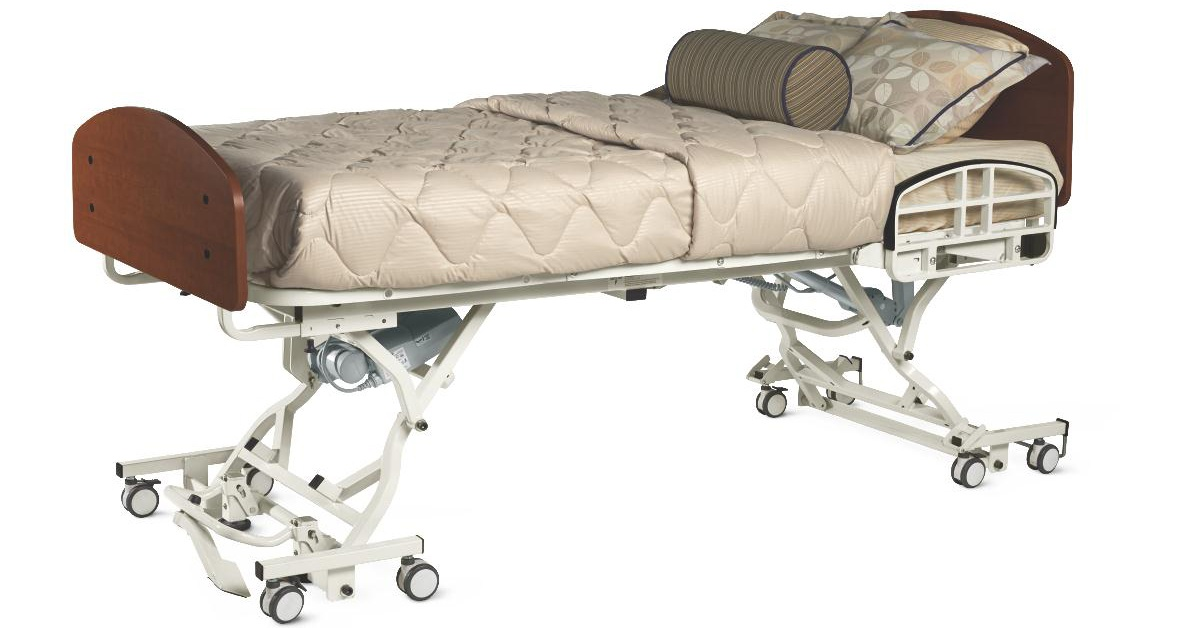Long-term care heavy duty bed