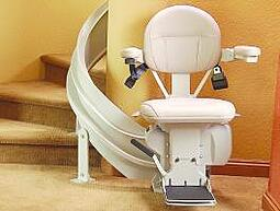Elite Curved Stair Lift in a home