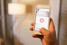 Smart switch on phone to power on lights