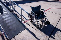 Wheelchair at airport