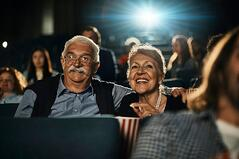 Senior Couple at Movies